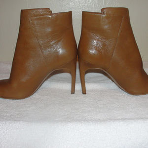 vince camuto ankle brown leather boots